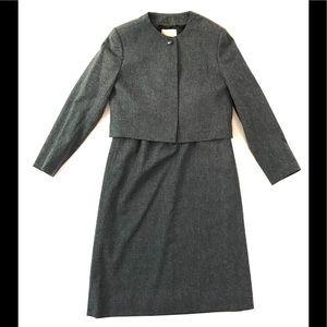 Pendleton Maxi Skirt Blazer Set Womens 10 Wool VTG